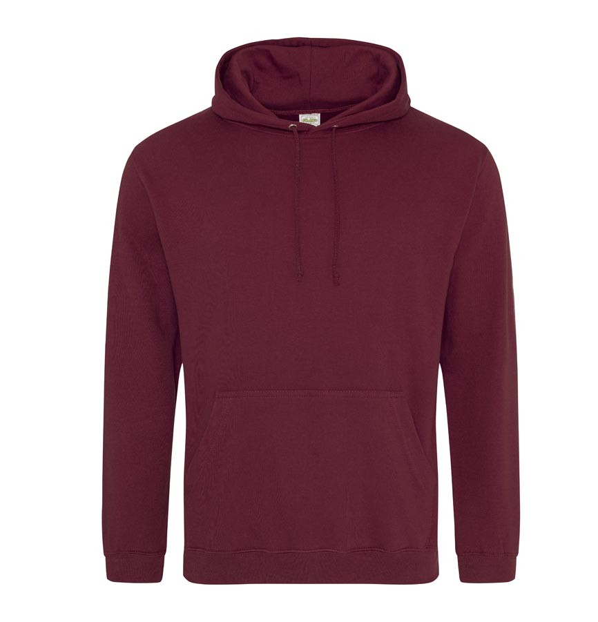 bluza z kapturem damska burgundy