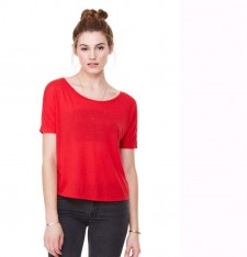 WOMEN'S FLOWY OPEN BACK TEE 8871 052