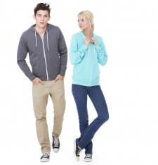 UNISEX POLY-COTTON FLEECE FULL-ZIP HOODIE 3739 104