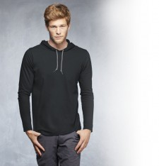 ADULT FASHION BASIC LONG SLEEVE HOODED TEE 987 186