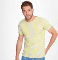 MEN`S ROUND NECK STRIPED T-SHIRT MILES 01398 516