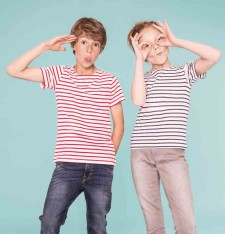 KIDS ROUND NECK STRIPED T-SHIRT MILES 01400 518
