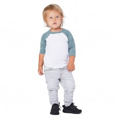 TODDLER 3/4 SLEEVE BASEBALL TEE 3200T 495