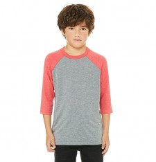 YOUTH 3/4 SLEEVE BASEBALL TEE 3200Y 496