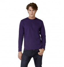 B&C #E190 LSL SINGLE JERSEY LONG-SLEEVED T-SHIRT TU07T 590