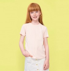 KIDS` ROUND NECK SHORT-SLEEVE T-SHIRT MILO 02078 733