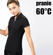 LADIES' SHORT-SLEEVED CONTRASTING DAYTODAY POLO SHIRT K271 769