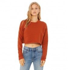 WOMEN`S CROPPED CREW FLEECE 7503 869