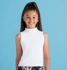KIDS` HIGH NECK CROP VEST SM170 882