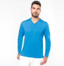 MEN'S LONG SLEEVE V-NECK T-SHIRT K358 935